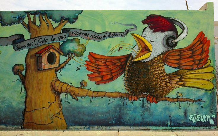 Crisarth//Todo lo que respire alabe a Dios//arte urbano//graffiti