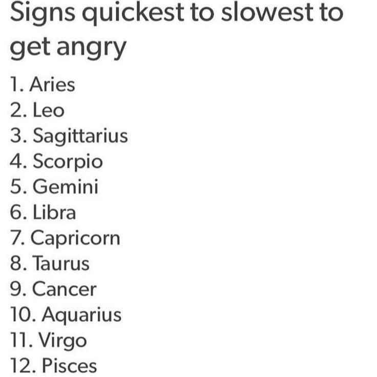 Ah yes, of course the fire signs are the first three