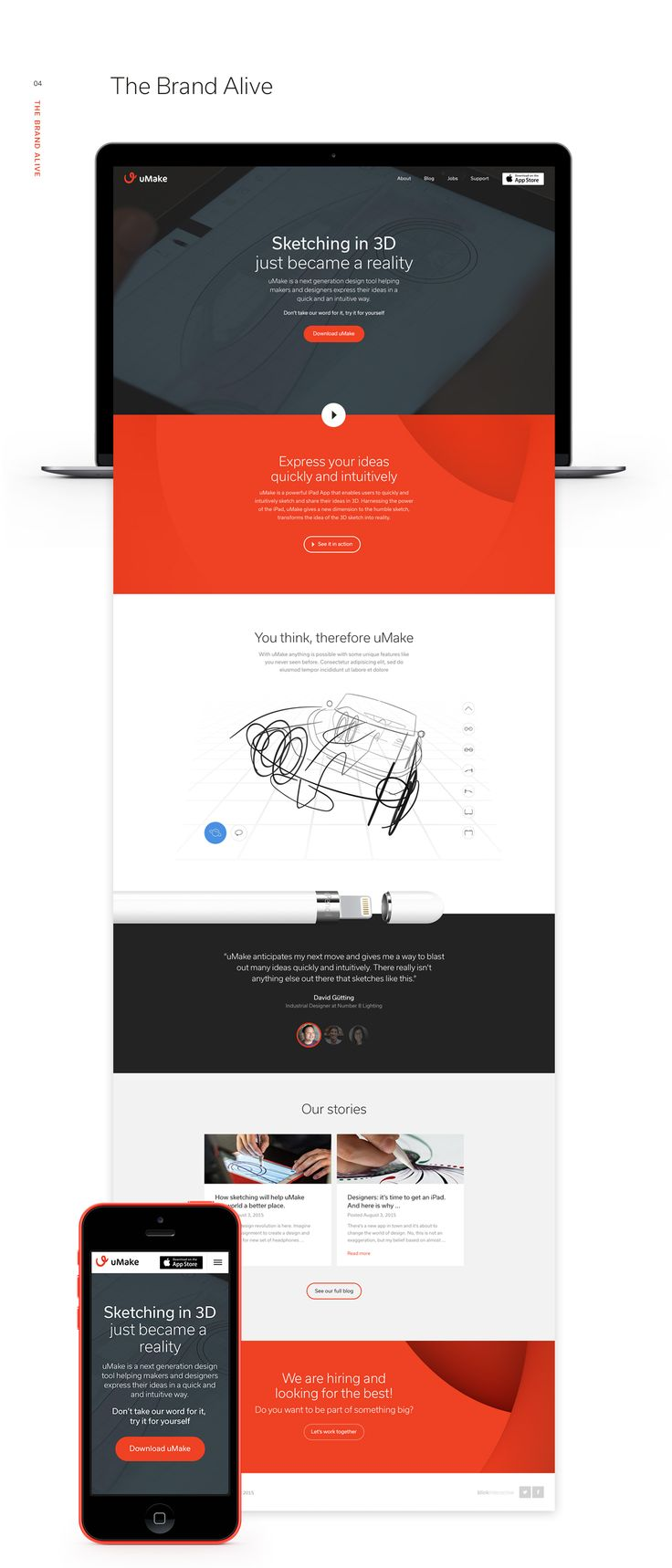 We are really excited that uMake asked us to re-design their brand and promo website for their app called 'uMake'.uMake is a powerful iPad App that enables users to quickly and intuitively sketch and share their ideas in 3D. Harnessing the power of the …