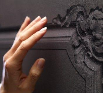 papier peint boiseries louis xv grises anthracite papier. Black Bedroom Furniture Sets. Home Design Ideas