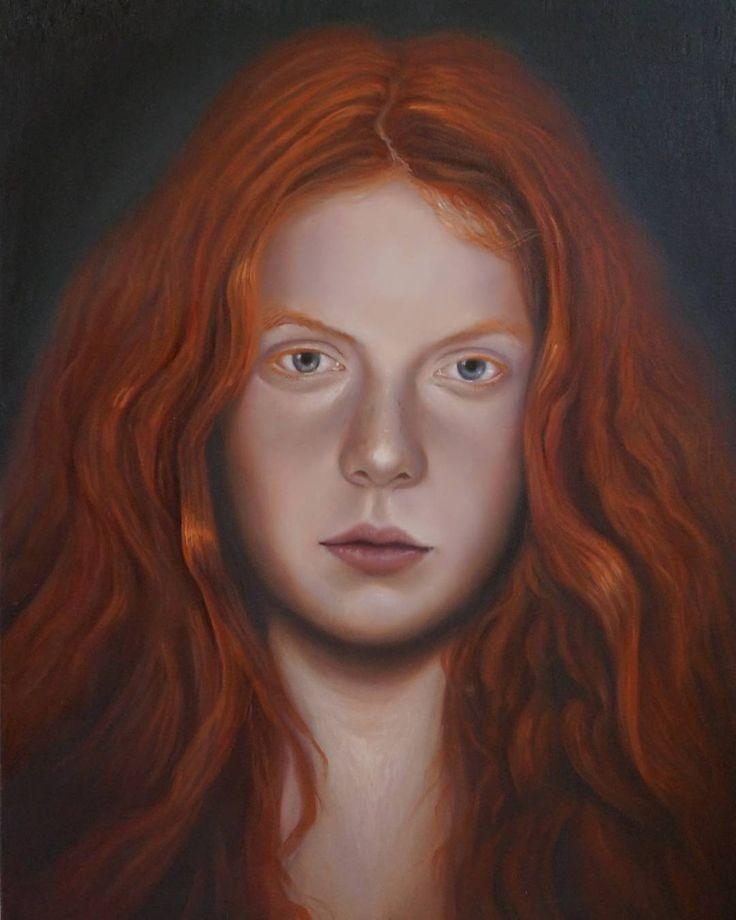 "Ariel Guerra ""Joven pelirroja"" óleo sobre lienzo. #portrait #oilpainting #figurative #A"