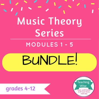 Complete Music Theory Series Bundle: PowerPoint Set covers everything from beginner to advanced music theory.