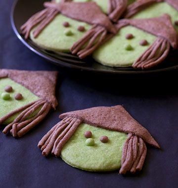 Sablés sorcières pour Halloween - les meilleures recettes de cuisine d'Ôdélices - Witch cookies recipe