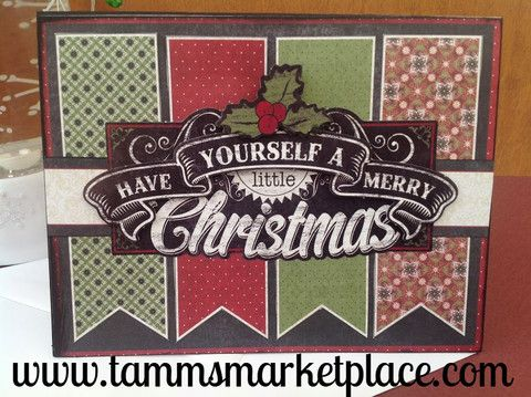 Have Yourself A Merry Little Christmas Handmade Card MKC052 – Tamm's Marketplace