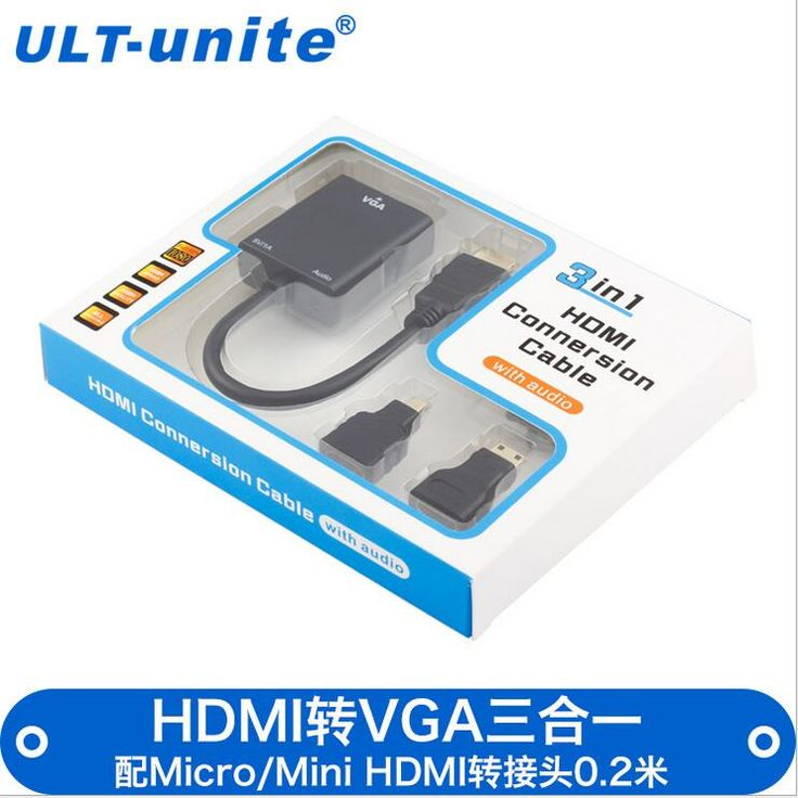 Free shipping Factory Outlet HDMI to VGA converter cable 3 co-1 Mini / MicroHDMI to VGA with audio cassette HDMi to VGA cables