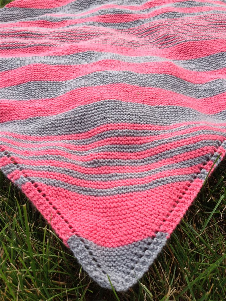 Striped baby blanket #knitting