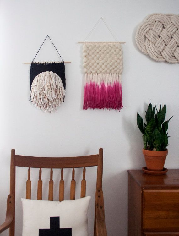Dyed Textural Weaving Hand Woven Wall Hanging by SheLovesLife