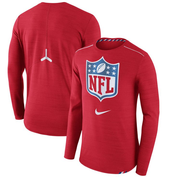 NFL Nike Draft Player Long Sleeve T-Shirt - Red