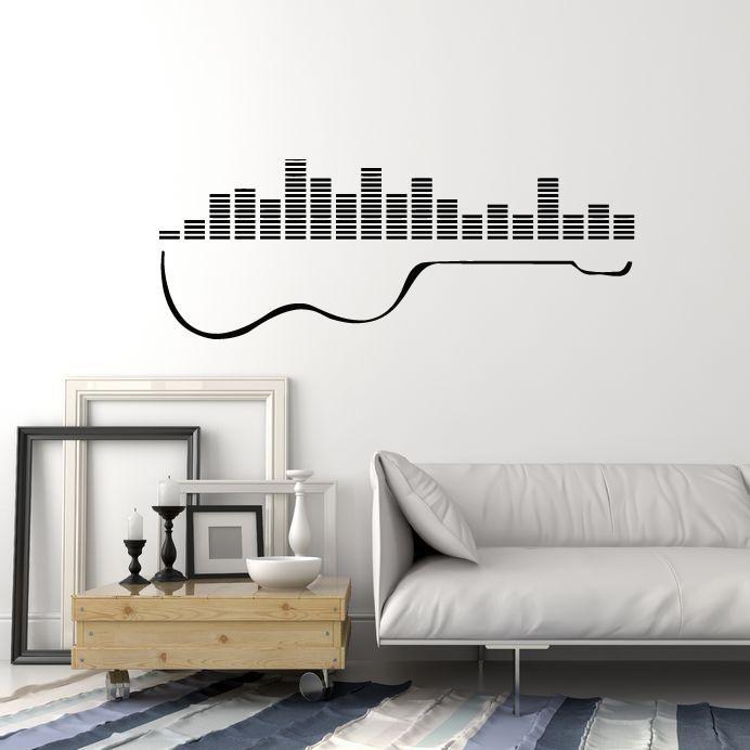 Vinyl Wall Decal Guitar Musical Instrument Mixer DJ Sound Stickers Mural (ig5213)