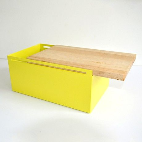 Steel Bread Box - Yellow by MY KILOS | MONOQI