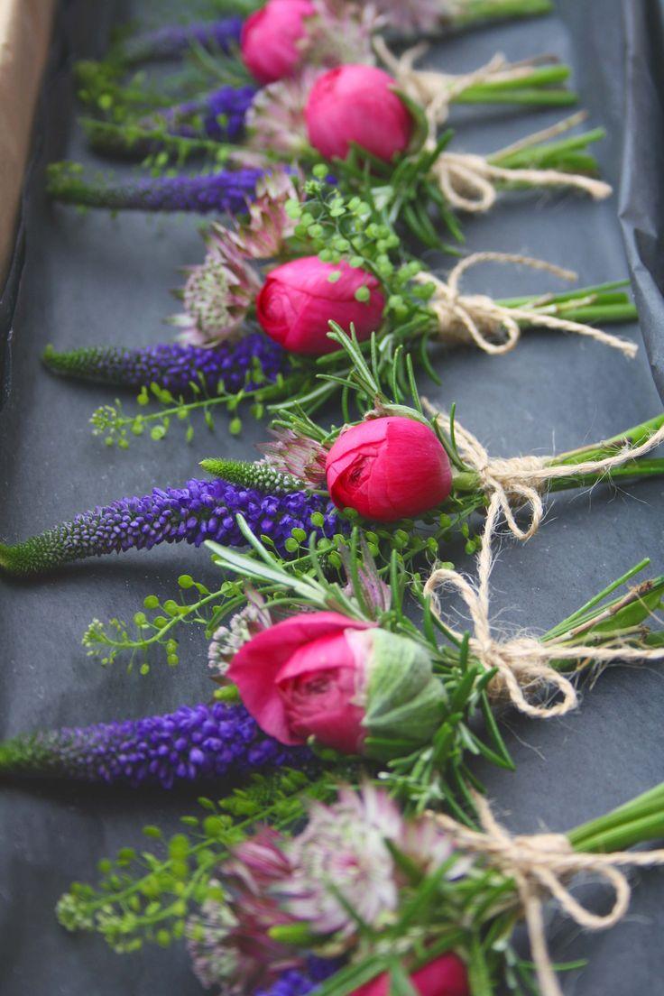 Ranunculus And Veronica Cer On Holes Vintage Wedding Flowerswedding