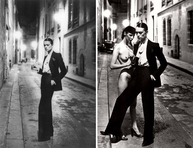 YSL, Yves Saint Laurent, le smoking, tuxedo, smoking femei, mauvert, costumul feminin, femei elegante, anii 60, pantaloni femei