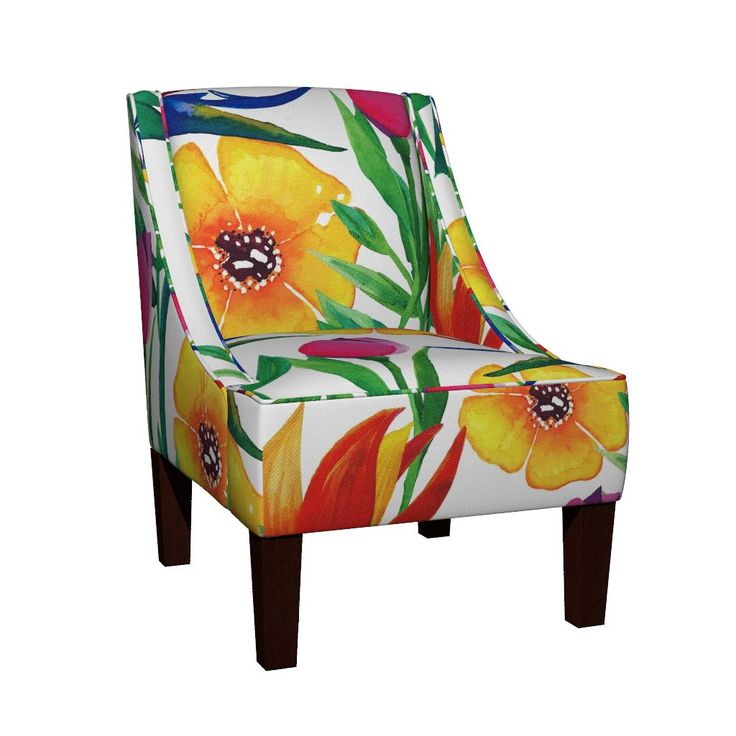 Venda Sloped Arm Chair featuring Tropical Jungle by jessmorris | Roostery Home Decor