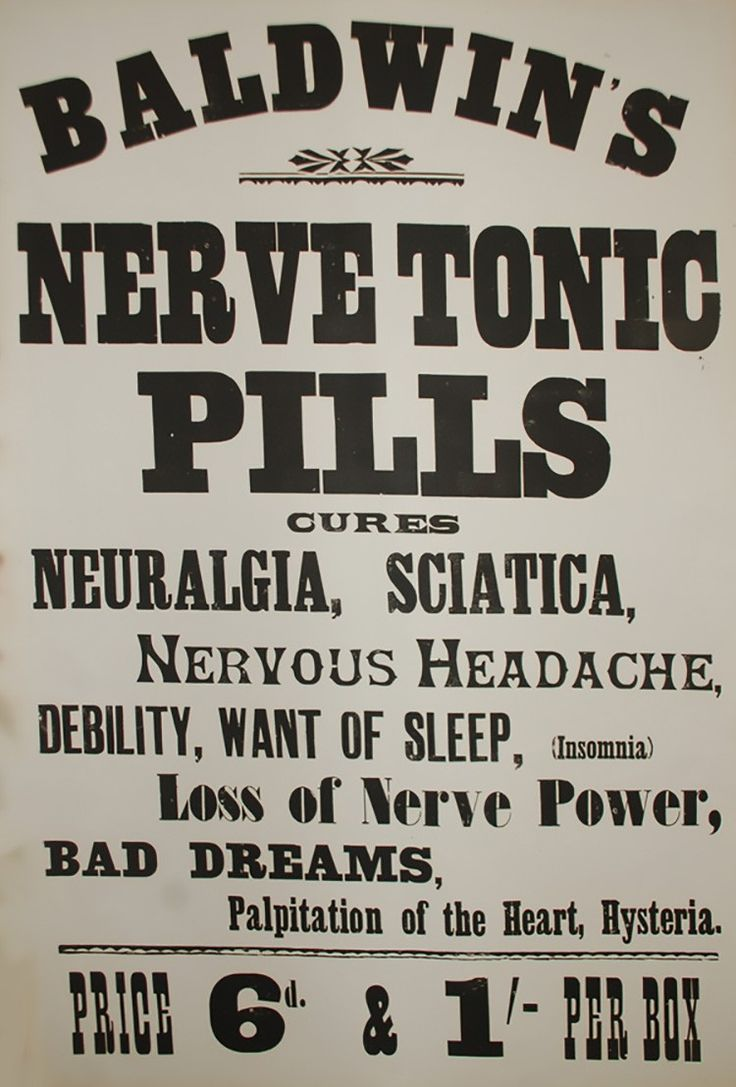 This original woodblock letterpress printed poster dates from the c. 1880s and advertises the pills and tonics available from G.Baldwin & Co., purveyors of natural remedies since 1844.