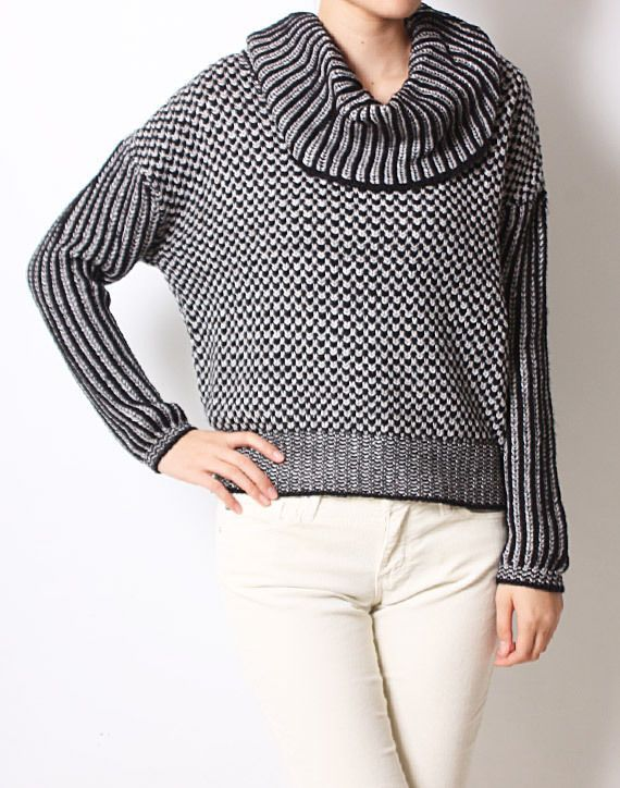 Knitted Turtleneck Sweater Blouse Long Sleeves