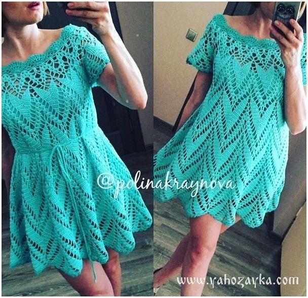 Красивое платье простым узором. Платье красивым узором описание | Я Хозяйка