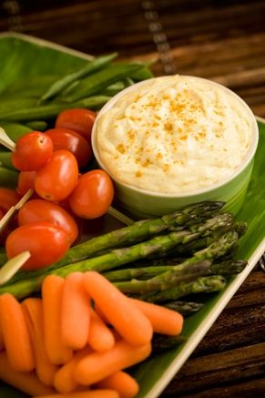 Curry Dip - Combine the mayonnaise, curry powder, lemon juice, and onion in a small bowl. Cover with plastic wrap and chill. Cut the bell pepper in half lengthwise, remove the core and seeds, and serve the curry dip in pepper 'bowls.'