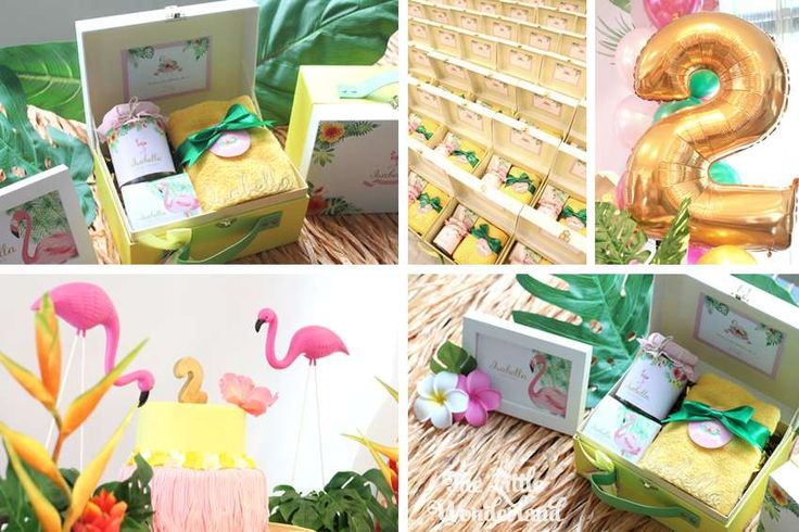 Hawaiian Flamingo Birthday Party Ideas | Photo 1 of 13 | Catch My Party