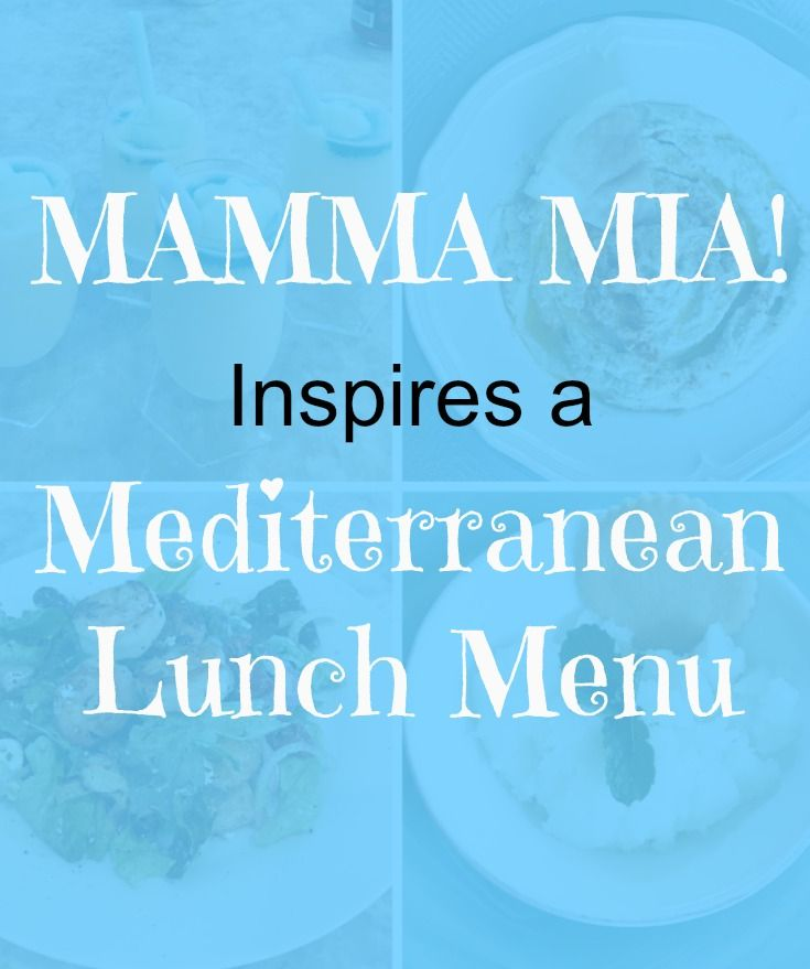 A light, delicious Mediterranean~inspired lunch includes a pretty cocktail, a yummy appetizer, a main~course salad and a simple dessert.