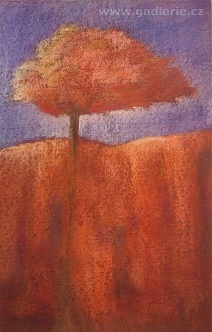 Srdeční záležitost, suchý pastel, 50x32 cm