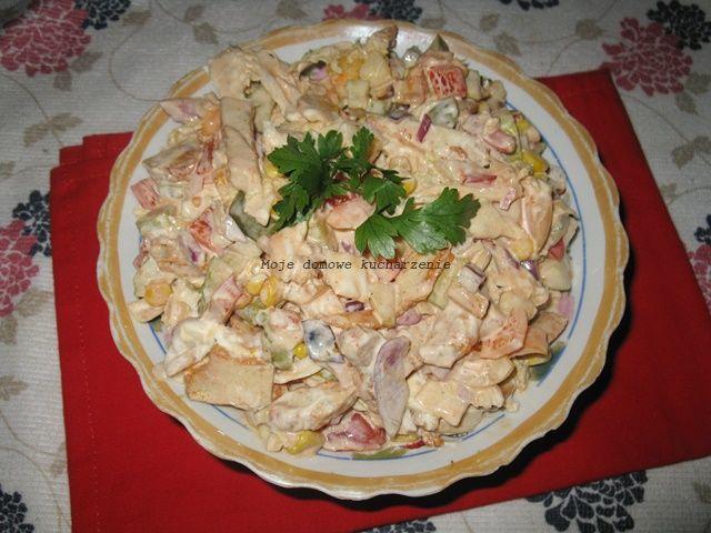 Moje domowe  kucharzenie: Sałatka gyros mieszana