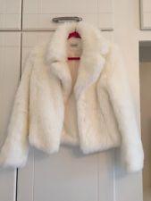 Topshop Fur Coat Size 12