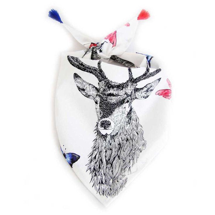 Un #bandana pour #chien sobre et moderne.