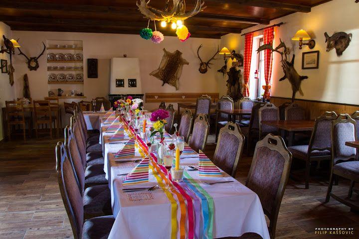 Svatební stůl - naše příprava