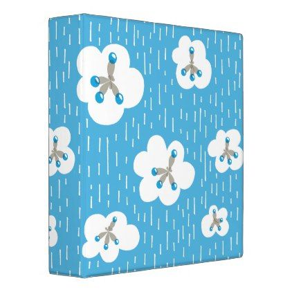 Clouds And Methane Molecules Blue Chemistry Geek 3 Ring Binder - pattern sample design template diy cyo customize