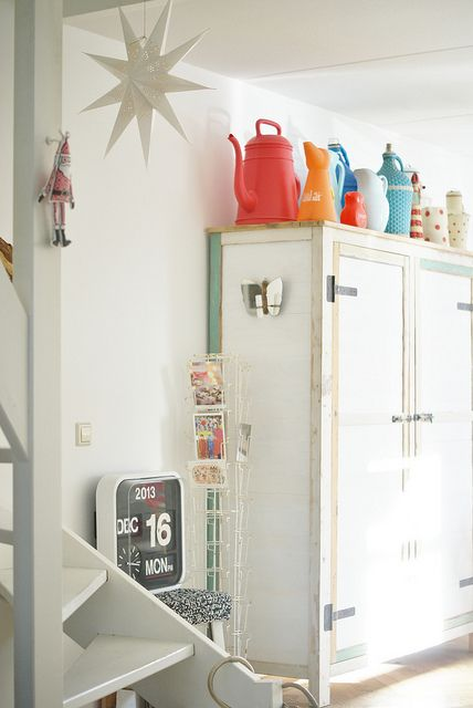 wood & wool stool, via Flickr