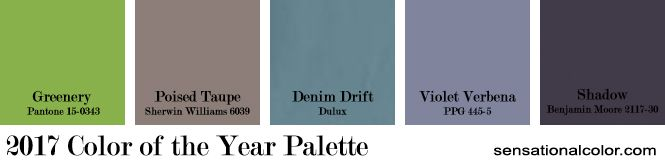 Color of the Year Palette 2017