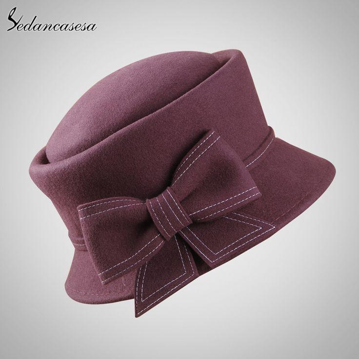 Europe American Sombreros Women 100% Australian Wool Cloche Fedora Hats Women Basin Formal Winter Autumn Derby Hat FW091003 – Shopping Idear