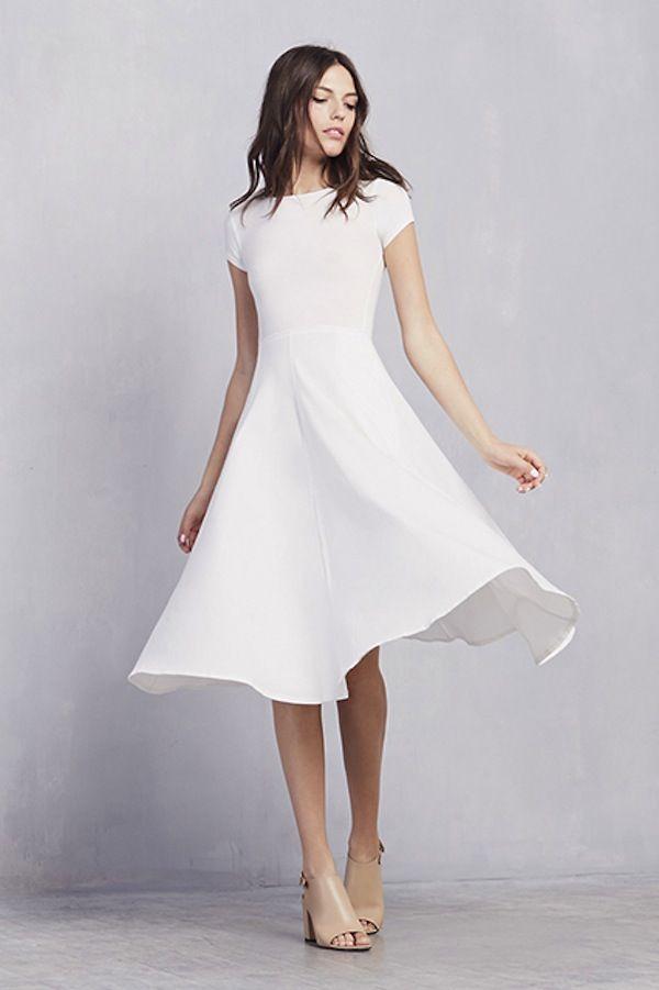 Modern Casual Wedding Dress : Casual wedding dress inspiration style modern weddings hawaii