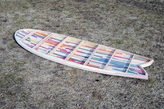 Broken Skateboards Transformed Into Brand New Surfboards