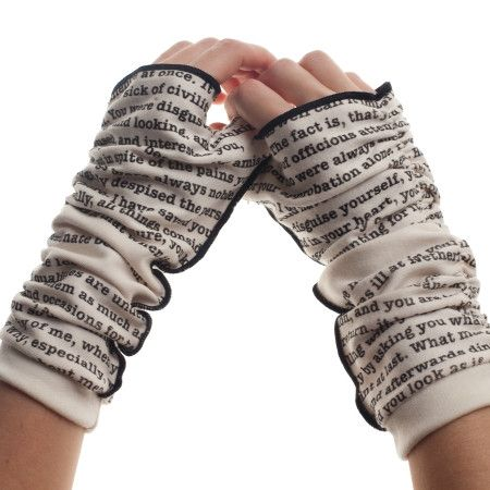 Pride and Prejudice Writing Gloves.        I HAVE to get these!