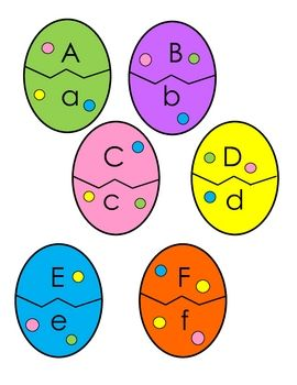 Easter Egg letter match