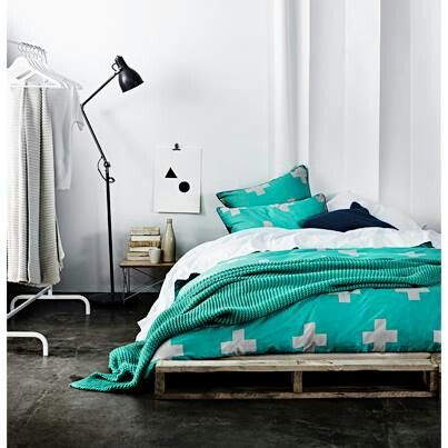 'Crosses' bedlinen range from Aura by Tracie Ellis aurahome.com.au