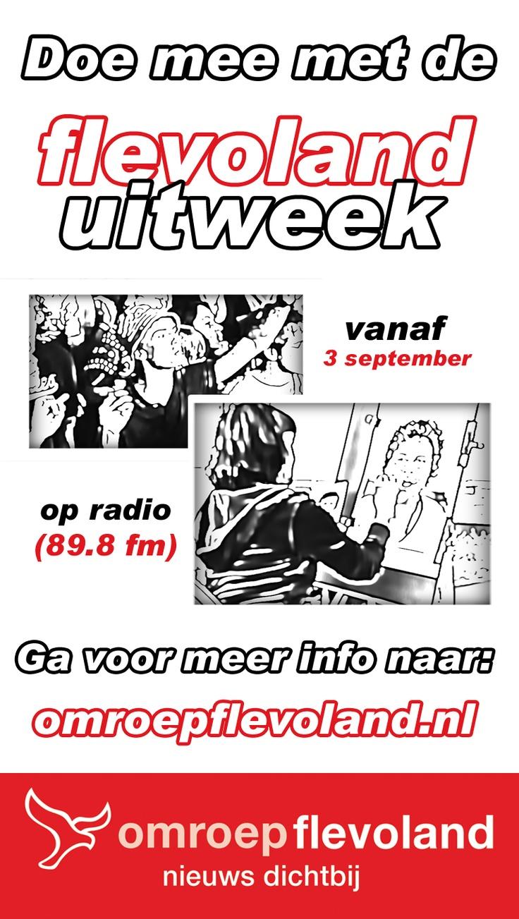 Doe mee met de FlevolandUitweek, vanaf 3 september. Radio 89.8fm
