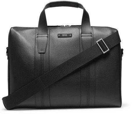 Hugo Boss - Leather Briefcase - Black.