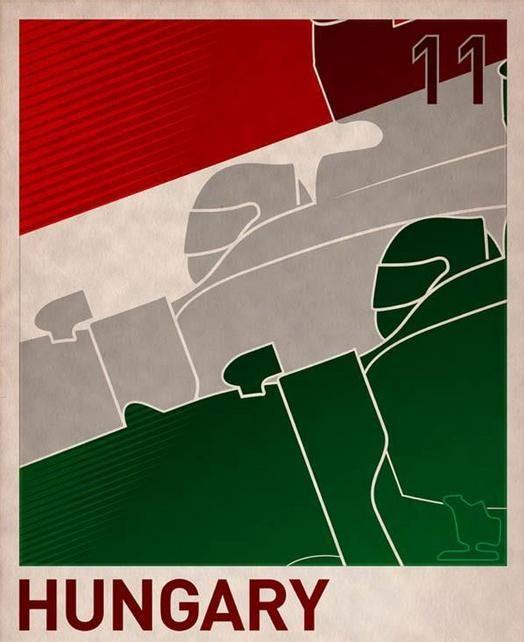 Vintage F1 Hungarian Grand Prix Poster