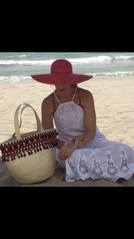Bolso en caña flecha y sombrero hecho a mano por artesanosdecolombia.