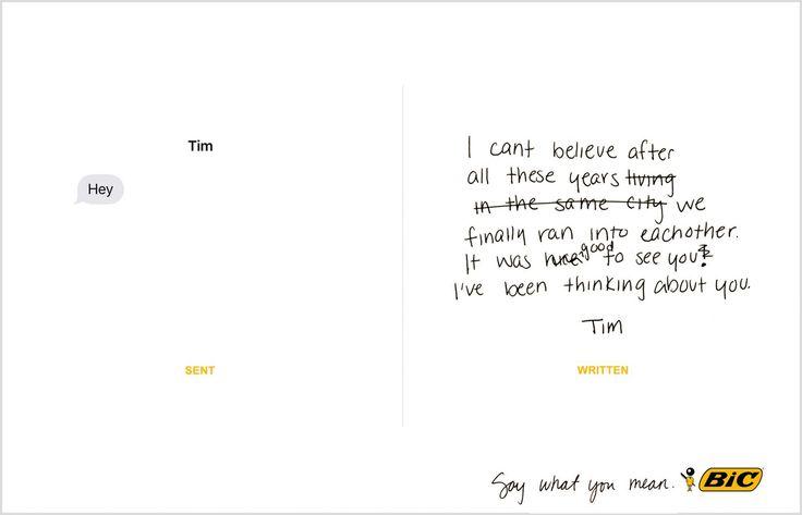 Peças provam que escrever à mão gera mais emoção
