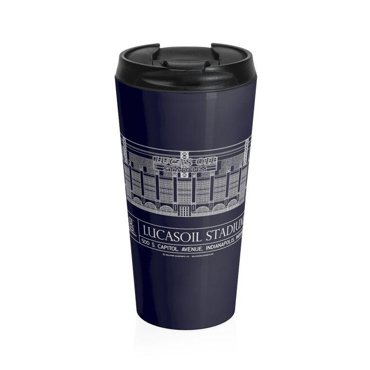 Lucas Oil Stadium Stainless Steel Travel Mug