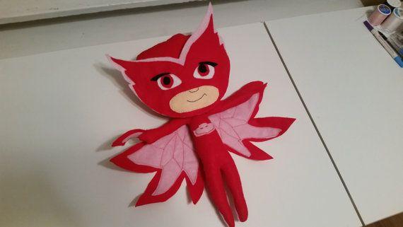 PJ Masks Owlette Felt Doll by DEKrafts on Etsy