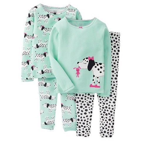 Just One You™ Made by Carter's® Toddler Girls' Puppies 4-Piece Mix & Match Pajama Set