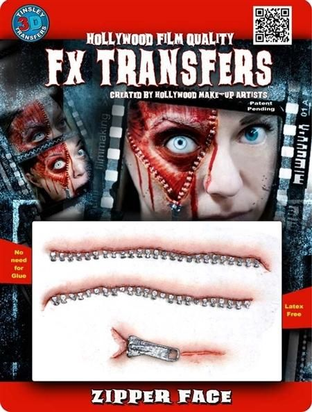 Open Stitches 3D FX Transfer Tinsley Temporary Halloween Special FX Make Up