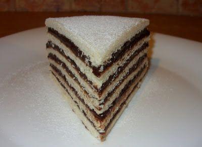 Hatlapos csokis sütemény