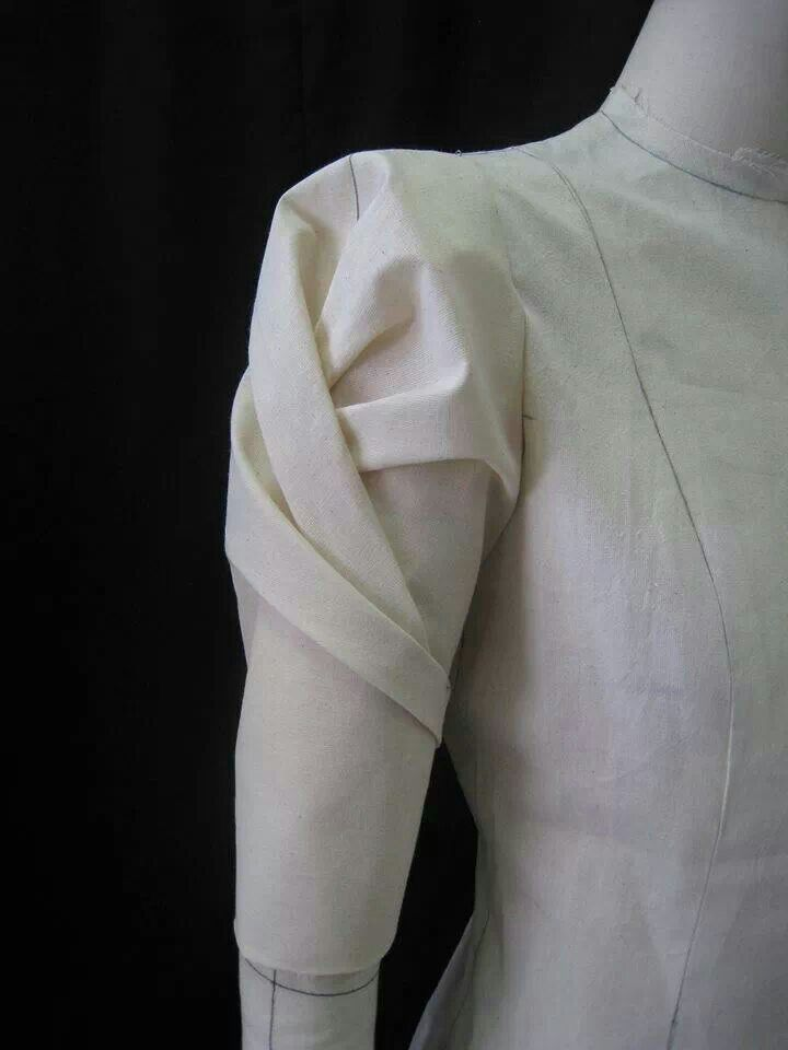 Fabric Manipulation for fashion design - decorative sleeve structures; draping; couture sewing techniques