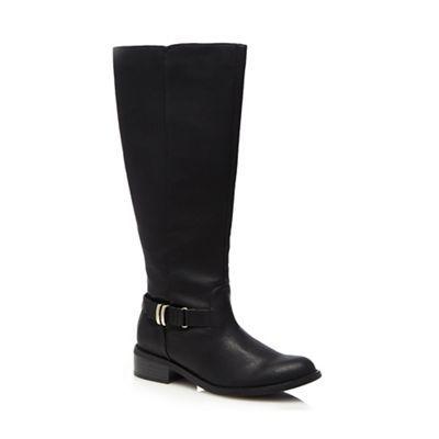 Good for the Sole Black calf length boots | Debenhams
