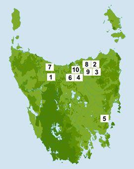 map of tasmania wineries